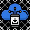 Cloud Mobile Download Smartphone Data Icon