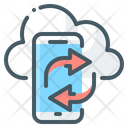 Cloud Mobile Apps Syncing Icon
