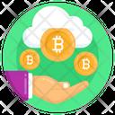 Cloud Transaction Cloud Money Cloud Bitcoin Icon