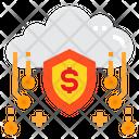 Cloud Money Security Icon