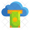 Cloud money transfer Icon
