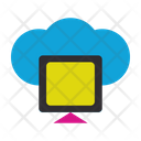 Cloud Monitor Monitor Connection Icon