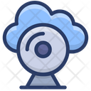 Cloud Monitoring Cloud Computing Cloud Hosting Icon