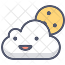 Cloud Moon Cloud Cloudy Icon