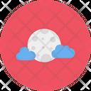 Cloud Moon Crescent Icon