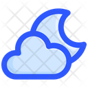 Cloudy Moon Night Icon