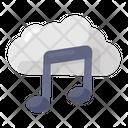 Cloud Music Cloud Computing Cloud Hosting Icon