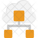 Cloud Network Structure Icon