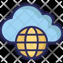 Cloud Network Worldwide Network Global Communication Icon