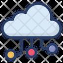 Cloud Network Cloud Computing Cloud Hosting Icon