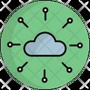 Cloud Network Cloud Server Cloud Storage Icon