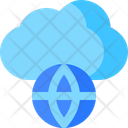 Cloud Network World Icon