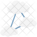 Hierarchy Cloud Computing Share Icon