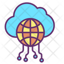 Icloud Network Cloud Network Global Cloud Connection Icon