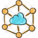 Cloud Network Cloud Connectivity Cloud Infrastructure Icon