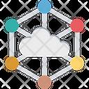 Cloud Network Cloud Sharing Cloud Computing Icon
