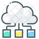 Cloud Computing Network Cloud Network Cloud Server Icon