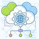 Cloud Data Cloud Server Cloud Hosting Icon