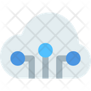 M Cloud Network Cloud Network Cloud Computing Icon