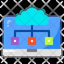 Laptop Cloud Screen Icon