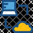 Cloud Connection Laptop Icon