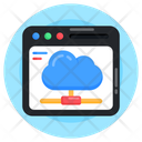 Web Hosting Cloud Network Shared Cloud Icon