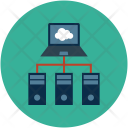 Cloud Network Hosting Icon
