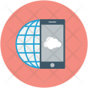 Cloud Network Mobile Icon