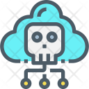 Cloud Network Virus Icon