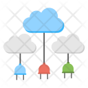 Cloud Network Connections Icon