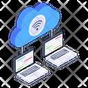 Cloud Network Management Icon