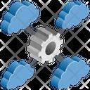 Cloud Computing Gear Icon