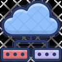 Cloud Network Sharing Cloud Computing Cloud Hosting Icon