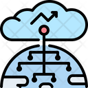 Cloud Servers Database Icon