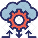 Cloud Networking Cloud Sharing Cog Icon