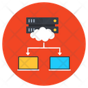 Cloud Networking Cloud Hosting Cloud Architecture Icon