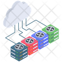 Cloud Networking Hosting Icon