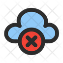 Cloud Offline Disconnected Disabled Icon