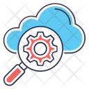Cloud Development Cloud Setting Cloud Optimization Icon