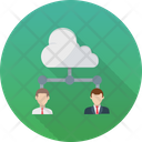 Cloud Outsource Cloud User Remote Employees Icon
