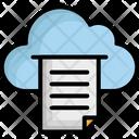 Cloud Paper Icon