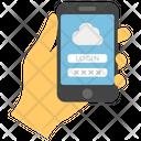 Cloud Password System Password Cloud Services Icon