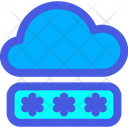 Cloud Password Secure Cloud Security Icon