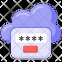 Cloud Passcode Cloud Password Cloud Protection Icon