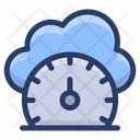 Cloud Performance Cloud Speed Cloud Computing Icon