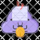 Cloud Bug Hacked Cloud Cloud Phishing Icon