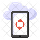 Cloud Mobile Cloud Device Cloud Syncing Icon