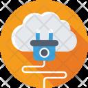 Hosting Cloud Computing Icon