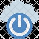 Cloud Power Button Icon