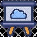 Cloud Presentation Business Presentation Cloud Easel Icon